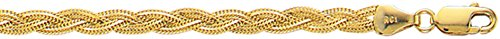 Yellow Gold Foxtail Chain - 8