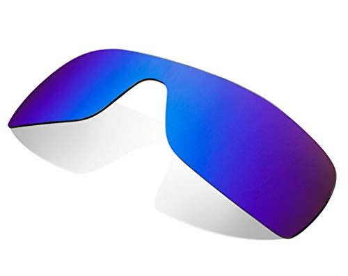 Replacement Lenses Compatible with OAKLEY Batwolf Non-Polarized Ice Blue Mirror