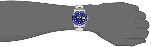 """Invicta Mens 9308SYB """"Pro Diver"""" Stainless Steel Watch with Silver-Tone Link Bracelet"""