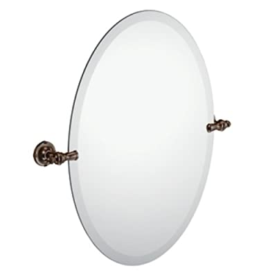 Moen DN0892ORB Gilcrest Bathroom Oval Tilting Mirror, Oil Rubbed Bronze