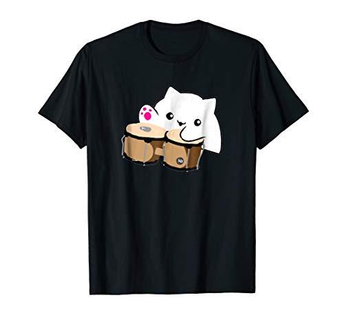 Funny Cat with bongos meme Halloween t shirt - cat memes -