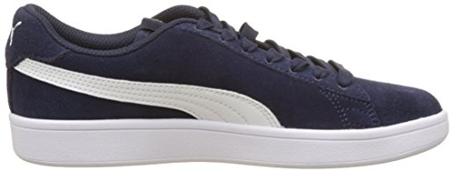 V2 White Top Sneakers Low Puma Peacoat Smash puma 04 Blue Adult Unisex qfXw6t