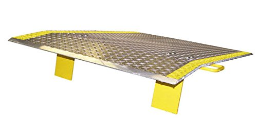 Aluminum (3/8'') Diamond Tread Dock Plate with Handles 36'' W x 36'' L 2500# Cap