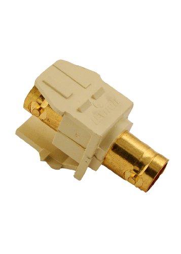 Leviton 40832-BI BNC QuickPort Adapter, Gold-Plated, Ivory