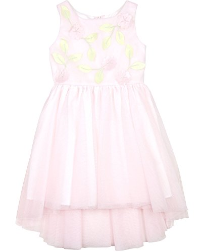 Biscotti Girls' Pink High-Low Dress Floral Blossoms, Sizes 7-16 (16) ()