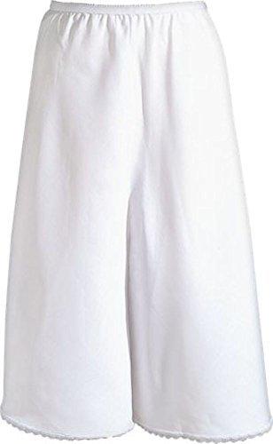 Half Slip Cotton (Velrose Cotton Batiste Culotte Slip (2461) White, Large)