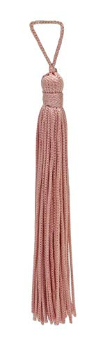 DÉCOPRO Set of 10 Light Rose Pink Chainette Tassel, 4 Inch Long with 1 Inch Loop, Basic Trim Collection Style# RT04 Color:Light Rose Pink - ()