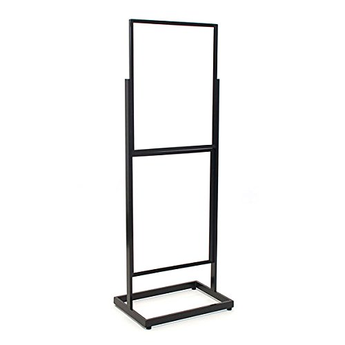 KC Store Fixtures 10605 Floor Standing Sign Holder, Double Frame 60