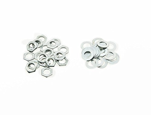 (KAISH 20pcs Zinc Metric M8 Guitar Pots Nuts and Washers for 24mm Large Metric Pots )