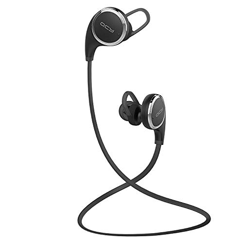 QCY QY8 Mini Bluetooth 4 1 Headphones with Microphone for iPhone, iPad,  Samsung and Android Smartphone - Black