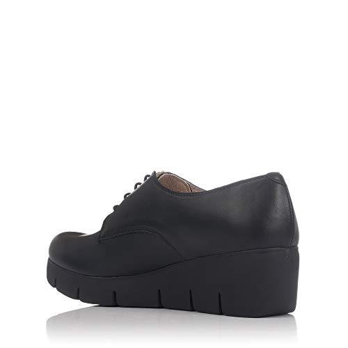pour Lince Noir à 80156 de Chaussures Femme Ville Lacets HgaZHv