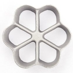 Honey-Can-Do 7040 Loose Triple Size Rosette Iron, 1-Inches H x 3.94-Inches W