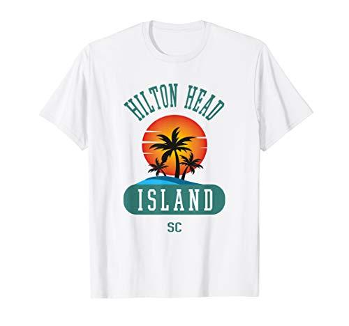 Fun Hilton Head Vintage South Carolina Beach Novelty Tshirt