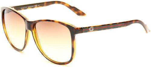 Gucci Men's 1636/S Shield Sunglasses,Havana Frame/Brown Gradient Lens,One - Gucci Shield