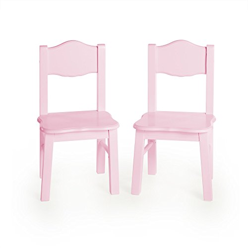 Guidecraft Classic Extra Chairs (Set of 2) - Pink: Kids School Educational Supply Furniture