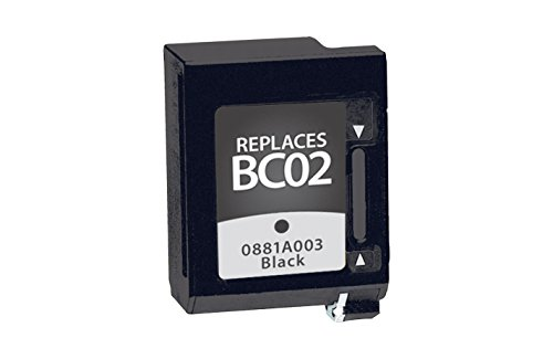 Bc02 Black Cartridge - Inksters of America Remanufactured Ink Cartridge Replacement for Canon BC-02 Ink Black, 0881A003/(BC-02)