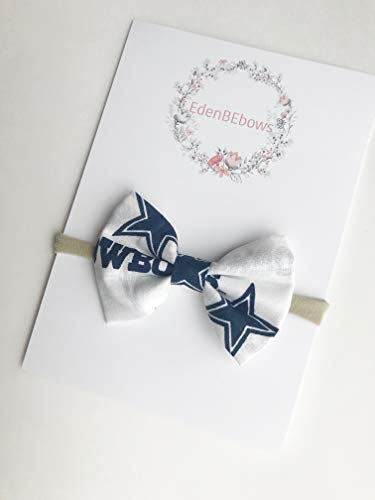 Baby Girl Dallas Cowboys (Dallas Cowboys baby nylon headband bow great for newborns baby girls toddlers. Made in)