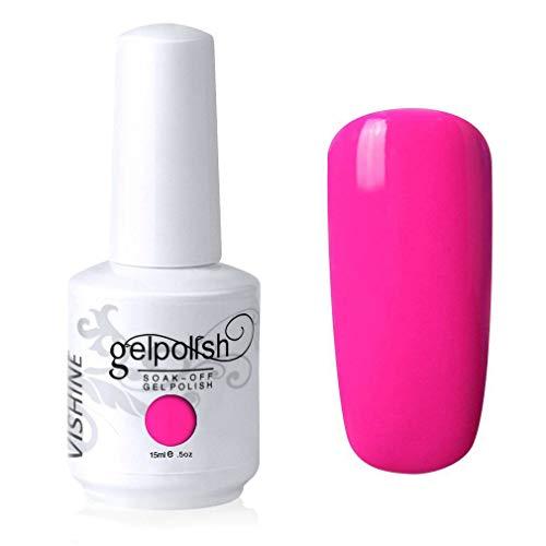 bright hot pink nail polish - 9