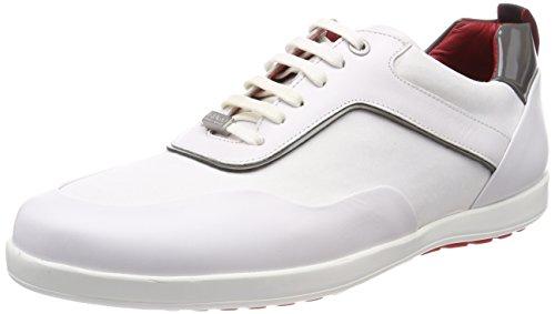 HUGO Herren Flat_Lowp_ltny Sneaker Weiß (White)