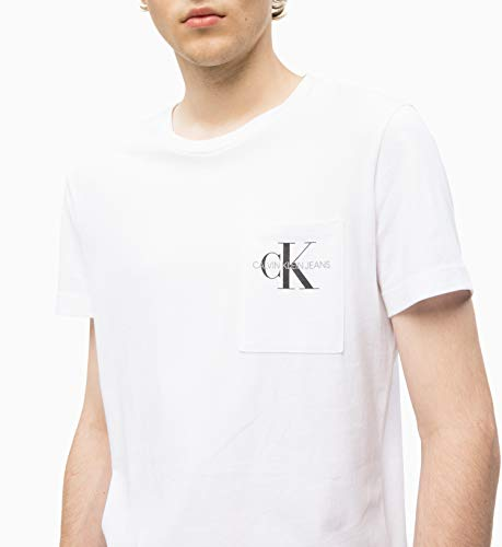 Klein Bright Calvin Pocket T Monogram White shirt Jeans pwHqHaxgd