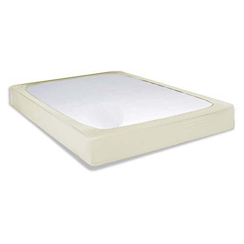 Fashion Bed Group Sleep Plush and Box Spring Cover, King, Ivory