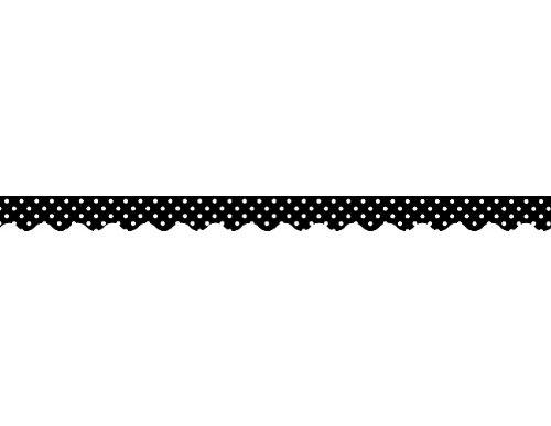 Teacher Created Resources Border Trim Black Mini Polka