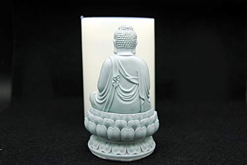 Lotus Buddha, Handmade Silicone Mold Mould sugarcraft Candle Clay ice Tray Chocolate soap Making by MOLDB (Image #1)