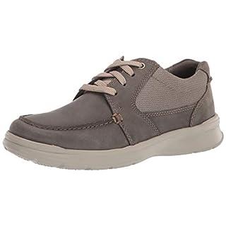 Clarks Men's Cotrell Lane Sneaker, Olive Combi Leather, 070 W US