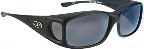 77fe6fdac6 Jonathan Paul Fitovers Small Razor Matte Black Polarized Gray OveRx  Sunglasses
