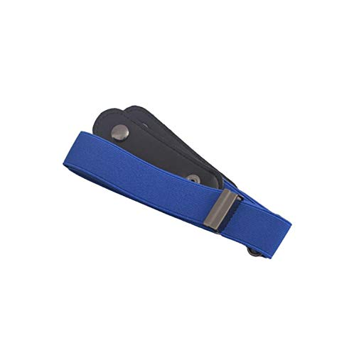 Belt Buckle-Free No Buckle Stretch Elastic Waist Belt No Bulge,No Hassle Waist Belt,Blue from AYO-LE belt