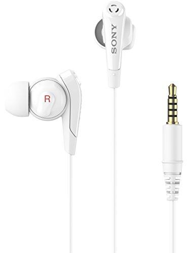 Sony Digital In-Ear Kopfhörer mit Noise Cancelling Rauschunterdrückung und Integriertem Mikrofon Kompatibel mit Smartphones, MP3-Geräten, Tablets und Laptops - Weiß