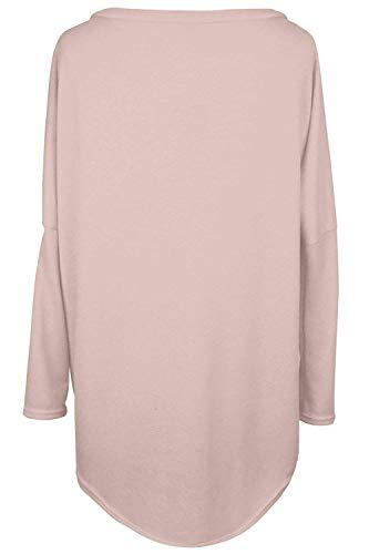 Size color Larga Qinch Especial Para Tops Rot Manga Mujer Asimétrica Suéter Blusa De Estilo Gran Tamaño Rot Holgados L Sudadera Suelta aIpwqUa