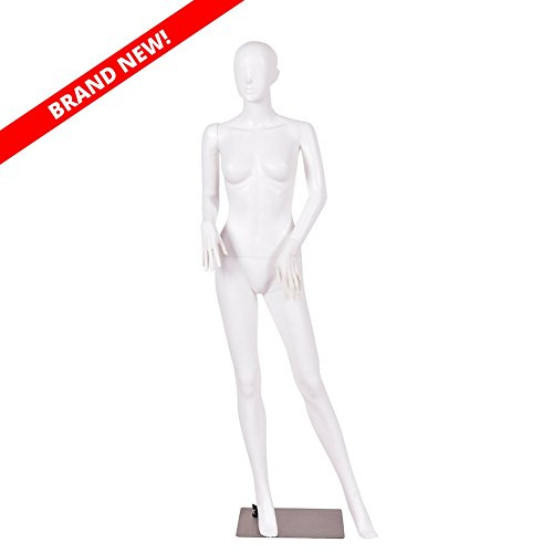 5.8 FT Female Mannequin Plastic Full Body Dress Form Display w/Base White New
