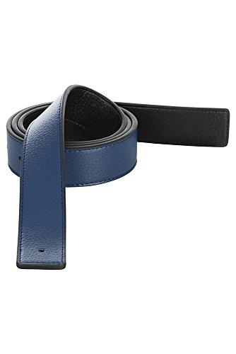 Men's Reversible Leather Belt Strap Hermes Replacement, Navy, Tan, White, Brown (Hermes Belt Cheap)