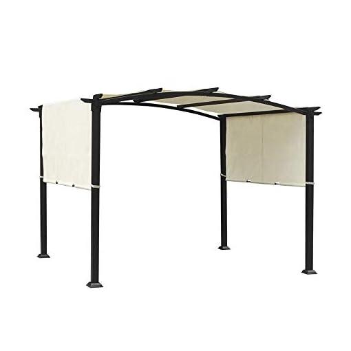 Garden and Outdoor 10'x8′ Pergola Gazebo Canopy Outdoor Patio Garden Steel Frame Sun Shelter with Retractable Canopy Shades pergolas