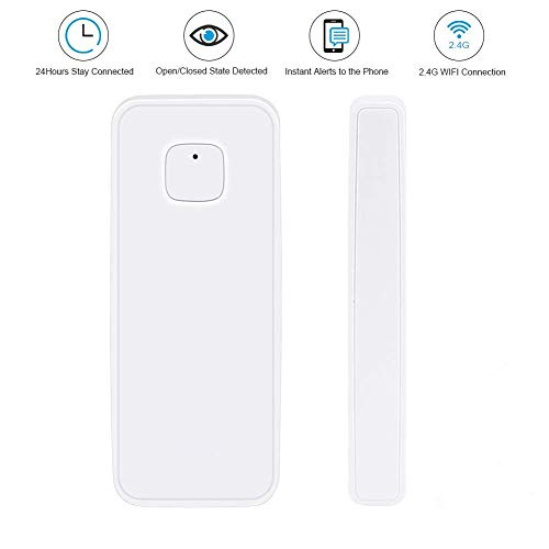 NPL Smart WiFi Door Sensor Wireless Garden Window Security Magnet Sensor with Easy App for Home Garage Farm Garden Office Compatible with Alexa Google Home IFTTT TUYA
