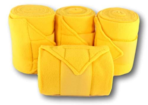 D.A. Brand Set of 4 Deluxe Soft Fleece 8' Polo Leg Wraps Horse Tack(Gold) ()
