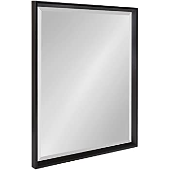 Kate and Laurel Calter Framed Wall Mirror, 23.5x29.5, Black