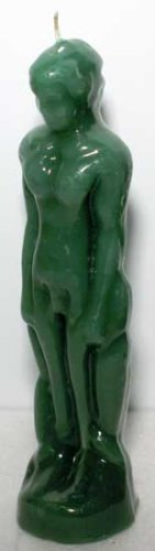 1 X Green Male Image Figure Candle (Money Drawing)
