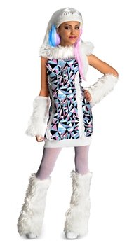 Monster High Abbey Bominable Child Costume - Small (4-6) - Monster High Abbey Costume