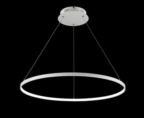 Finesse Decor CH-400 Modern Design- Single Floating Led Round Chandelier, 23 x 23 x 60, White