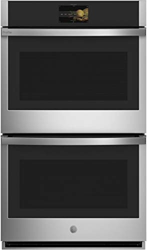 GE Profile PTD7000SNSS 30″ Smart Double Wall Oven with 10 cu. ft. Total Capacity True European Convection (Upper) Self-Clean with Steam Clean Option 7″ Full Color Touch LCD Screen in Stainless Steel
