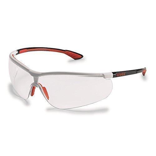 Uvex Schutzbrille sportstyle; Farbe: schwarz-rot-weiß, Scheibe: PC klar, UV-Schutz: 400 Uvex Safety 9193216