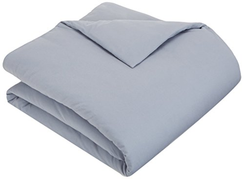 Pinzon Flannel Duvet Cover - Twin, Dusty Blue (Flannel Comforter Cover)