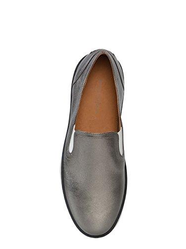 Cuero Plata Mujer 407124VAVG31117 On Zapatillas Veneta Slip De Bottega Charol B7qtWIwanc