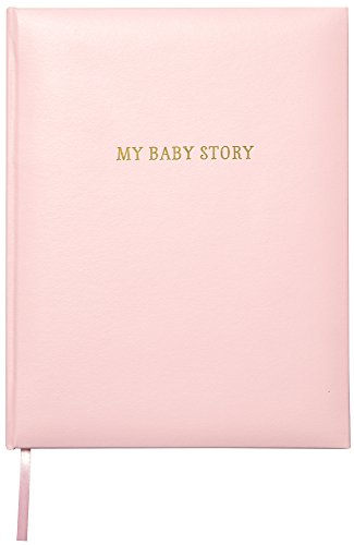 "C.R. Gibson Perfect-Bound Pink Leather Memory 64 Pages Book for Newborn and Baby Girls, 9"" x 11.125"""