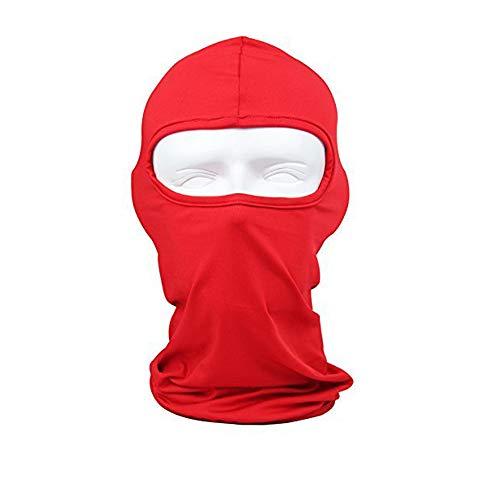 Sunland Lycra Fabrics Ski Face Mask Motorcycle Cycling Bike Bandana Hiking Skateboard Balaclava Red