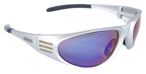 Dewalt DPG56-7C Ventilator Blue Mirror High Performance Protective Safety Glasses with Wraparound Frame (Woodworking Ventilator compare prices)