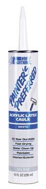 white-lightning-wl30100-painters-preferred-acrylic-latex-caulk-10-oz-fiber-cartridge-white-case-of-1