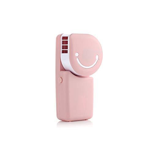 MifeerクリエイティブスマイルフェイスUSB充電式水冷ファン、ミニエアコン、クーラーファン、ポータブルハンドヘルドスモールブレードレスファン(色:ピンク) B07TH8DKK5 Pink